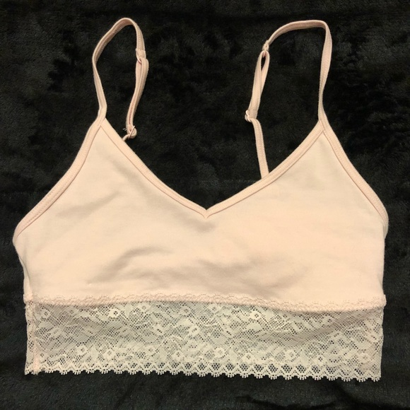 033d5a45b3 NWT Calvin Klein CK Unlined Cotton Bralette Peach